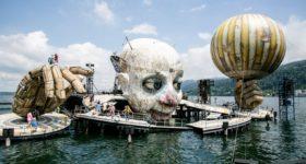 Брегенцский фестиваль готовится к открытию репетицией оперы Джузеппе Верди «Риголетто», Австрия